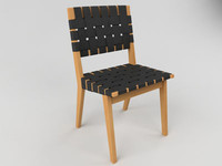 knoll risom chair 3d model