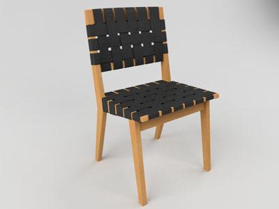 knoll risom chair 3d model