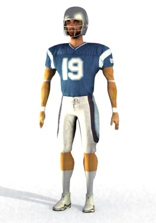 3d football player model