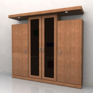 3d cabinet wardrobe model