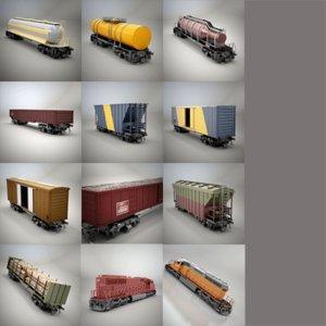 railroad cars gondola ii 3d max