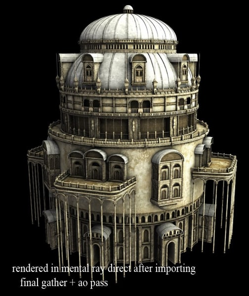 3dsmax fantasy tower 3