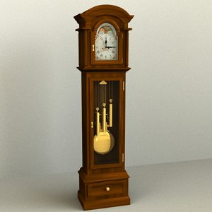 grandfather clock 3d model