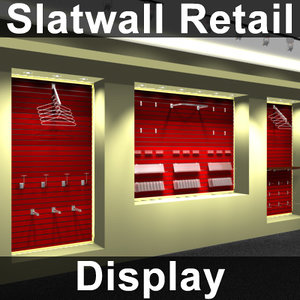 slatwall display 3d model
