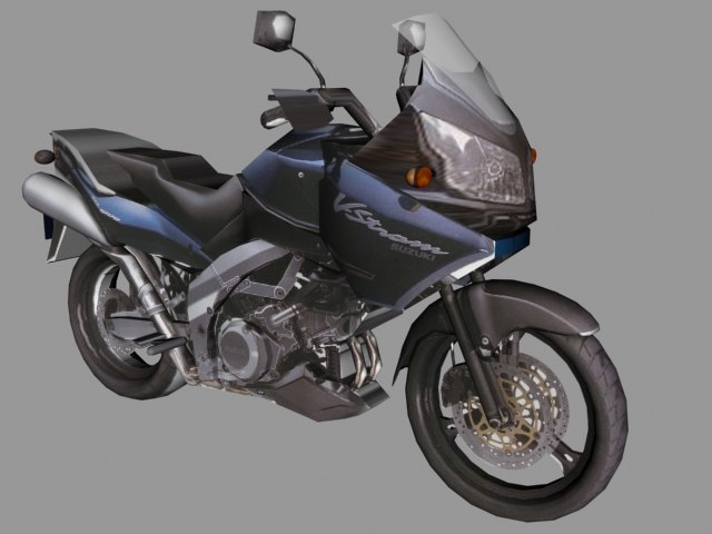 3d max suzuki dl bike