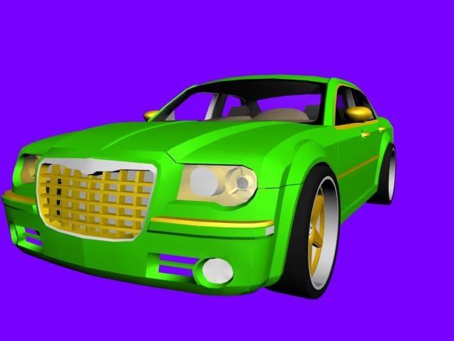 free chrysler car 3d model