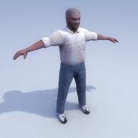 human rigged 3d lwo