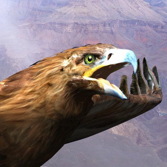 golden eagle 3d model