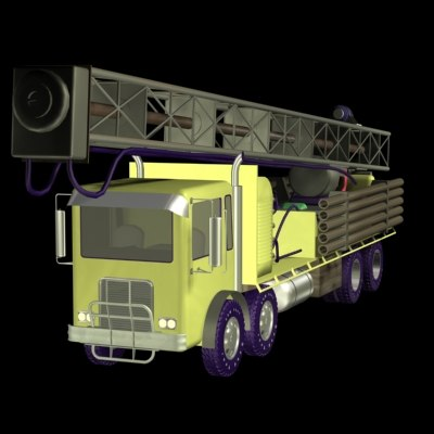 3d model truck mounted drilling rig