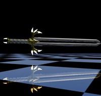 3d greatsword swords blade model