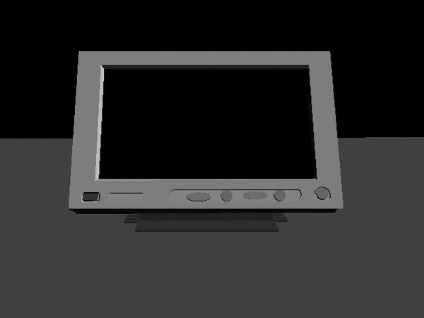 color wide lcd 3d model