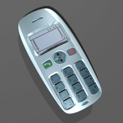 3ds max realistic cellphone