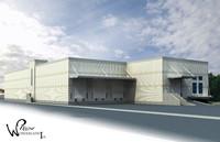 architectural building 3 exterior 3d model