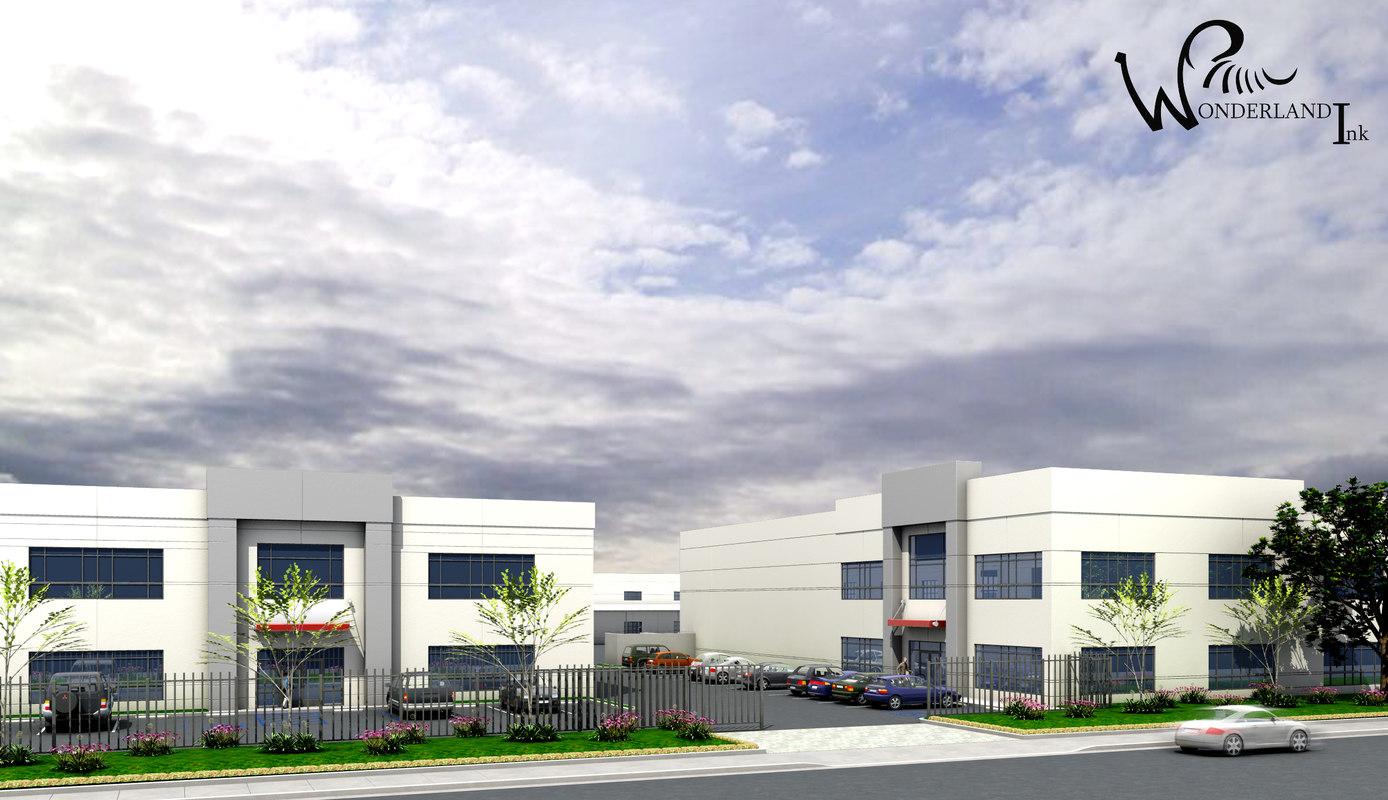 architectural building 6 exterior 3d model