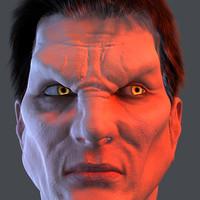 3d realistic vampire human head model