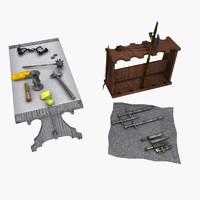 free medieval set 3d model