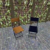 bistro chairs 3d cob