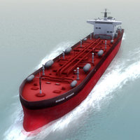 sirius voyager oil tanker 3d model