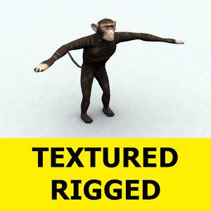 monkey animation obj