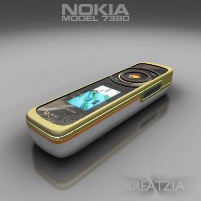 nokia 7380 3d model