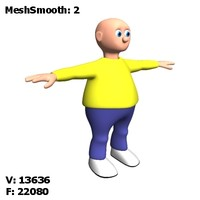 diblik cartoon character 3d 3ds
