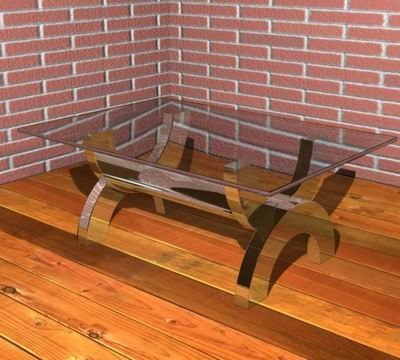 modern table 3d 3ds