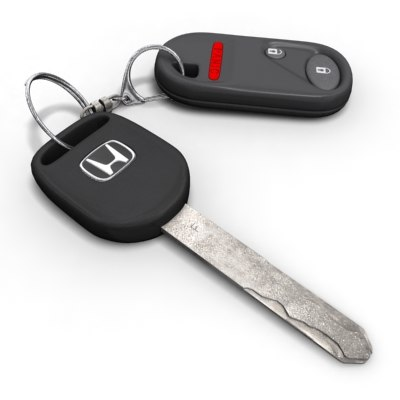 3d car keys model