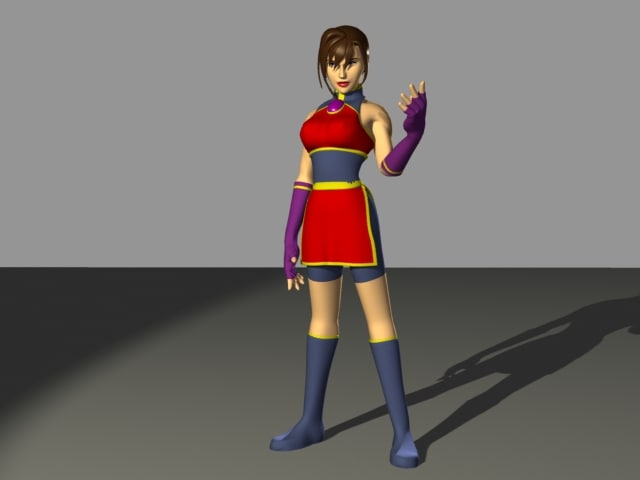 anime female dancer 3d max
