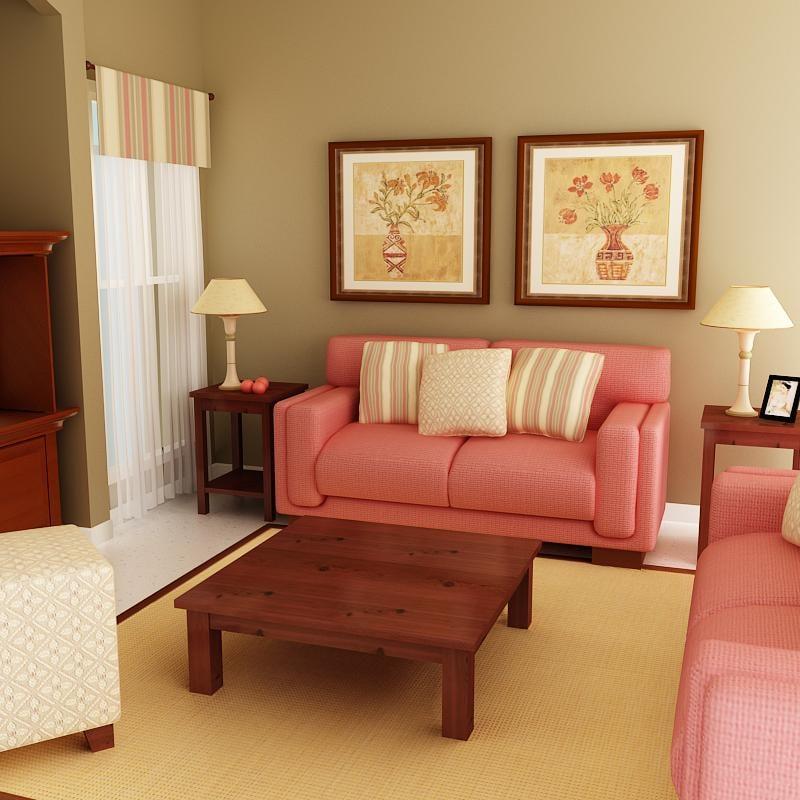 3d sofas tv curtains model
