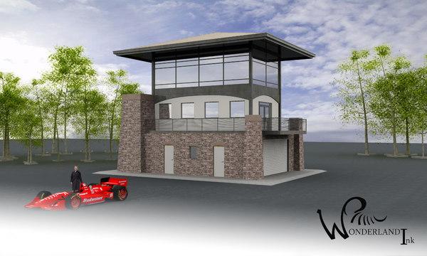 architectural building 16 exterior 3d model