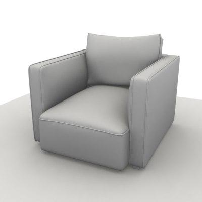 3ds max sofa globe chair 2