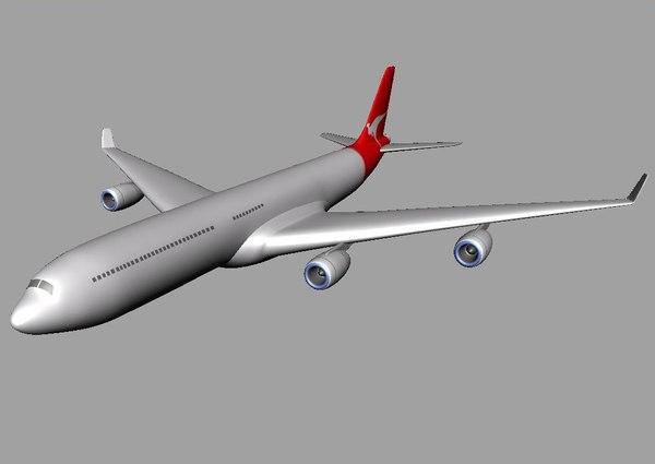 3d model of airbus 340