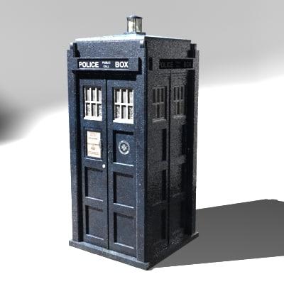 police box tardis 3d model
