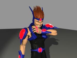 maya futuristic anime fighter