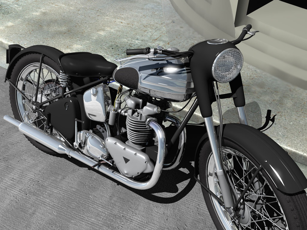 3d model triumph tiger motorcycle