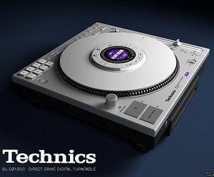 technics sl-dz1200 3d model