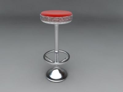 3d bar chair