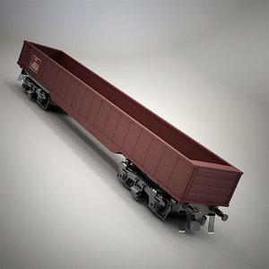 3ds train railroad gondola