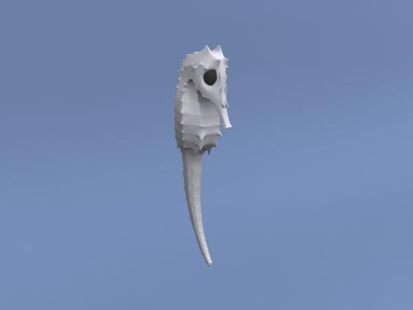 seahorse swim 3d max