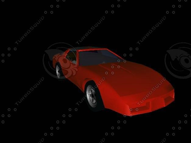 corvette car 3d model