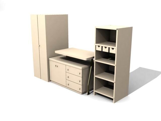 3d cupboard cabinet