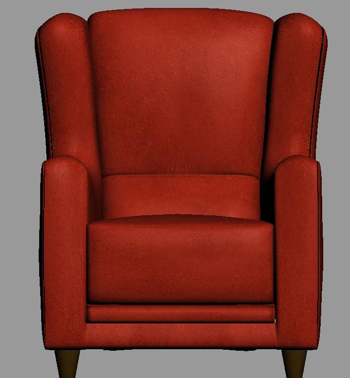 3d chair baxter