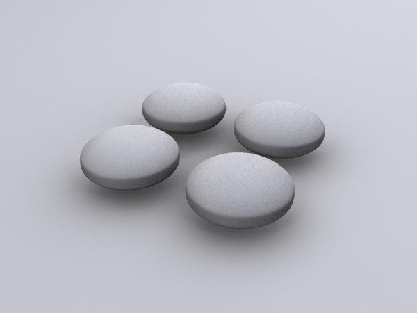 3d tylenol pill