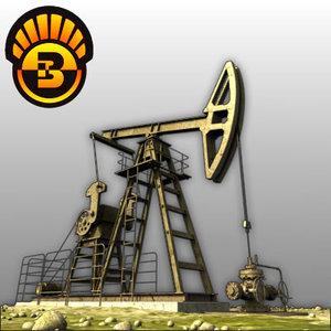 oil peak pump 3d model