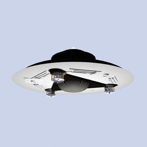 3d model adamski ufo