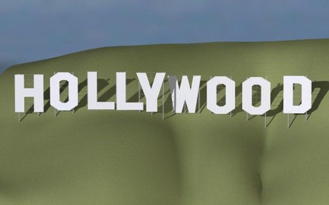 hollywood sign landmark 3d model