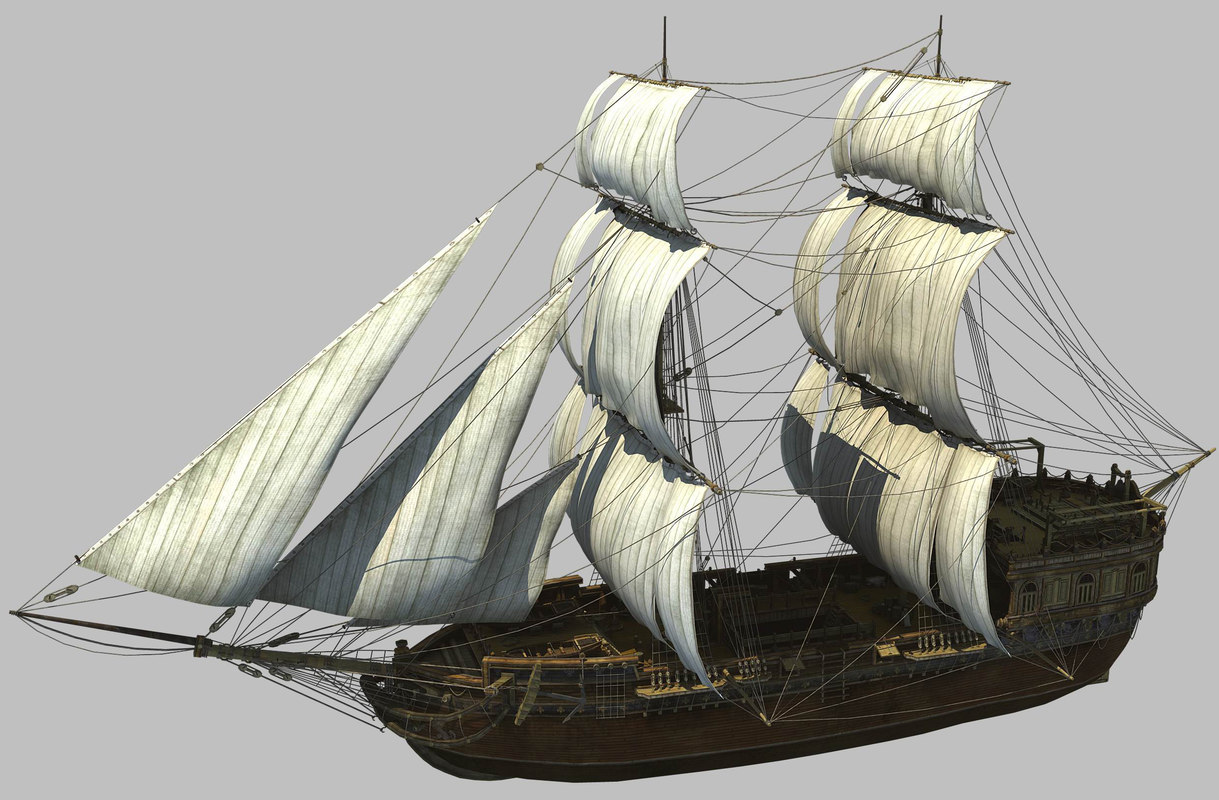 ship medieval 3ds