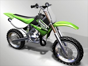 moto motocross 3d model