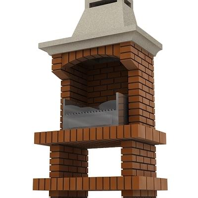 3d barbecue model