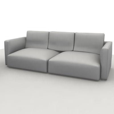 dwg sofa 3 pillow